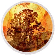 Marbled Tree Round Beach Towel