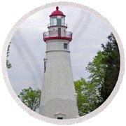 Marblehead Lighthouse Round Beach Towel