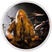 Marco Hietala And Jukka Nevalainen - Nightwish  Round Beach Towel