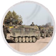 Marder Infantry Fighting Vehicles Round Beach Towel