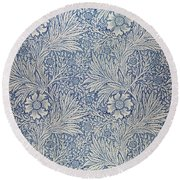 Marigold Wallpaper Design Round Beach Towel