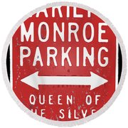 Marilyn Monroe Parking Round Beach Towel