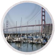Marina At Golden Gate Round Beach Towel