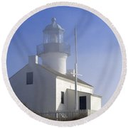 Marine Fog At Pt. Loma Round Beach Towel