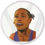 Marion Jones Round Beach Towel