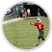 Mark Sanchez Ny Jets Quarterback Round Beach Towel