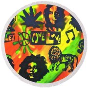 Marley Forever Round Beach Towel