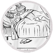 Married Couple, 1600s Round Beach Towel