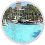 Marriott Hotel Swimming Pool Panorama Orlando Fl Round Beach Towel