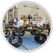 Mars Science Laboratory Rover Round Beach Towel