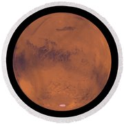 Mars Round Beach Towel
