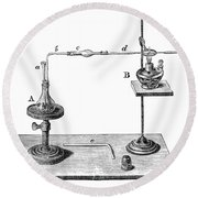 Marsh Test Apparatus, 1867 Round Beach Towel by Science Source