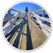 Marshal Point Lighthouse Walkway Round Beach Towel