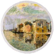 Martigues In The South Of France Round Beach Towel