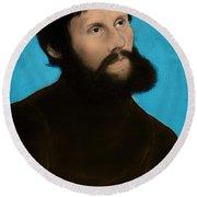 Martin Luther, German Theologian Round Beach Towel