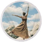 Mary Poppins Round Beach Towel