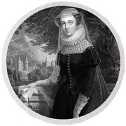 Mary Queen Of Scots Round Beach Towel by Photo Researchers