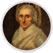 Mary Washington - First Lady  Round Beach Towel by International  Images