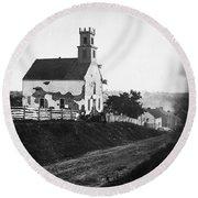 Maryland: Church, 1862 Round Beach Towel