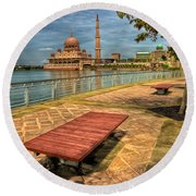 Masjid Putra Round Beach Towel