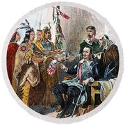 Massasoit & Carver, 1620 Round Beach Towel
