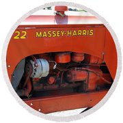 Massey Harris Details Round Beach Towel