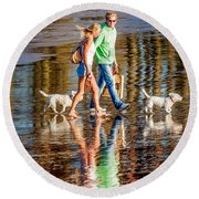 Matching Couples Round Beach Towel