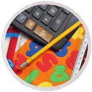 Mathematics Tools Round Beach Towel