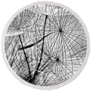 Matrix Monochrome Round Beach Towel