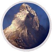 Matterhorn Morning-2 Round Beach Towel