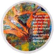 Matthew 5 Round Beach Towel