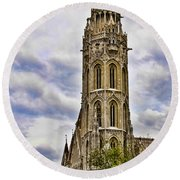 Matthias Church Tower - Budapest Round Beach Towel