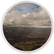 Maui Beneath The Clouds Round Beach Towel