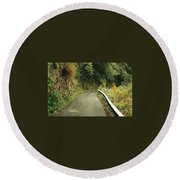 Maui Highway Round Beach Towel by Marilyn Wilson
