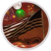 May Your Colors Run Deep And Far Round Beach Towel