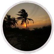 Mayan Paradise Round Beach Towel