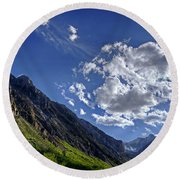 Mcgee Creek Canyon Round Beach Towel