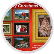 Mclanegoetz Studio Christmas Card Round Beach Towel