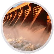 Mcnary Dam Round Beach Towel by DOE/Science Source