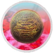 Measles Virus Round Beach Towel