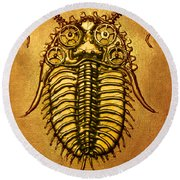 Mecha-trilobite 1 Round Beach Towel