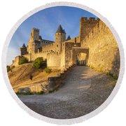 Medieval Carcassonne Round Beach Towel