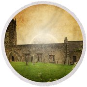 Medieval Church Round Beach Towel