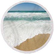 Mediterranean Shore Round Beach Towel