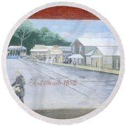 Meeting At Fort Meade Round Beach Towel