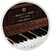 Mehlin And Sons Piano Round Beach Towel