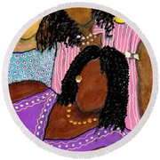 Mellow Sistahs Round Beach Towel