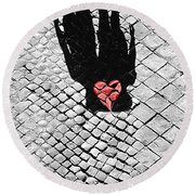 Melted In Love Round Beach Towel