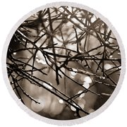 Melting Frost Round Beach Towel