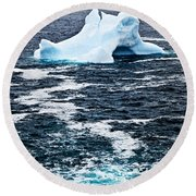 Melting Iceberg Round Beach Towel